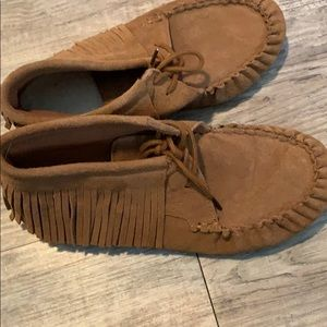 Moccasin style slippers